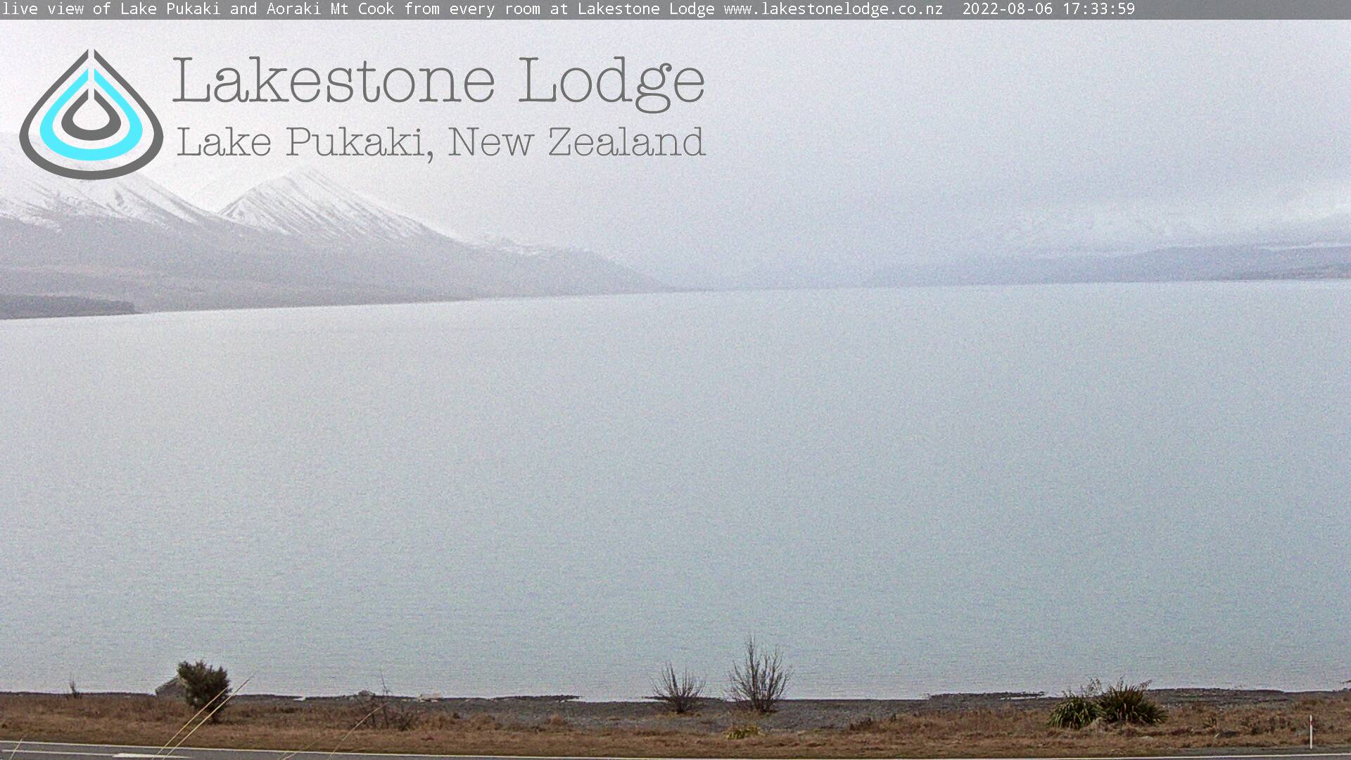 Live Webcam Lake Pukaki, Mt Cook Weather Lakestone Lodge